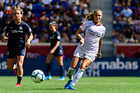 HARRISON, NJ - SEPTEMBER 29: Shelina Zadorsky #4 of the Orlando Pride during a game between Orlando Pride and Sky Blue FC at Red Bull Arena on September 29, 2019 in Harrison, New Jersey.