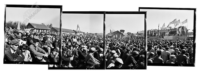 A mass rally to denounce bad elements in Acheng county, Heilongjiang Province, September 12, 1965
