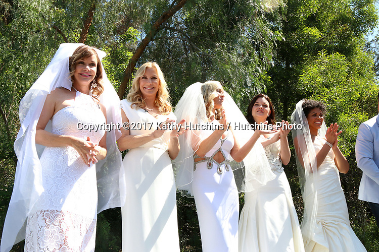 "LOS ANGELES - APR 14:  Bobbie Eakes, Katherine Kelly Lang, Jennifer Gareis, Heather Tom, Karla Mosley at the ""Home and Family"" Celebrates ""Bold and Beautiful's"" 30 Years at Universal Studios Back Lot on April 14, 2017 in Los Angeles, CA"