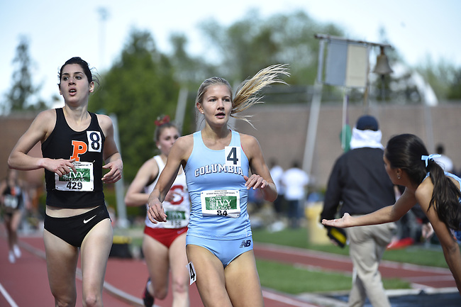 Athletes compete during the heptagonal outdoor track & field championships, Sunday, May 8, 2016, in Princeton  Nj.
