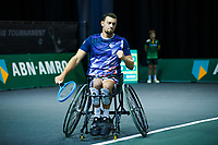Rotterdam, The Netherlands, 11 Februari 2020, ABNAMRO World Tennis Tournament, Ahoy, <br /> Wheelchair tennis: Joachim Gerard (BEL).<br /> Photo: www.tennisimages.com