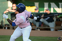 Justin Chigbogu (56) of the Ogden Raptors at bat against the Helena Brewers at Lindquist Field in Ogden Utah on July 20, 2013.  (Stephen Smith/Four Seam Images)