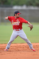 St. Louis Cardinals infielder Vance Albitz (5) during a minor league spring training intrasquad game on March 28, 2014 at the Roger Dean Stadium Complex in Jupiter, Florida.  (Mike Janes/Four Seam Images)