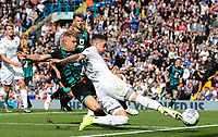 Leeds United's Pablo Hernandez battles with Swansea City's Jake Bidwell<br /> <br /> Photographer Alex Dodd/CameraSport<br /> <br /> The EFL Sky Bet Championship - Leeds United v Swansea City - Saturday 31st August 2019 - Elland Road - Leeds<br /> <br /> World Copyright © 2019 CameraSport. All rights reserved. 43 Linden Ave. Countesthorpe. Leicester. England. LE8 5PG - Tel: +44 (0) 116 277 4147 - admin@camerasport.com - www.camerasport.com