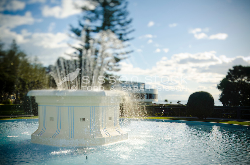 The Art Deco Tom Parker Fountain on Marine Parade Napier, New Zealand