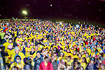 The crowd lines up at the start of Nathans Walk Darkness into Light walk on Saturday morning