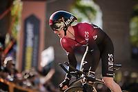 Eddie Dunbar (IRE/INEOS) up the very steep part up San Luca climb<br /> <br /> Stage 1 (ITT): Bologna to Bologna/San Luca (8.2km)<br /> 102nd Giro d'Italia 2019<br /> <br /> ©kramon