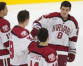 Patrick McNally (Harvard - 8) - The Harvard University Crimson tied the visiting Dartmouth College Big Green 3-3 in both team's first game of the season on Saturday, November 1, 2014, at Bright-Landry Hockey Center in Cambridge, Massachusetts.