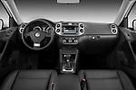 Straight dashboard view of a 2010 Volkswagen Tiguan Wolfsburg SUV  Stock Photo