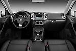 Straight dashboard view of a 2010 Volkswagen Tiguan Wolfsburg SUV  Stock Photo