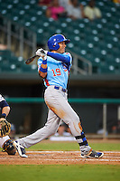Tennessee Smokies outfielder Jacob Hannemann (19) at bat during a game against the Montgomery Biscuits on May 25, 2015 at Riverwalk Stadium in Montgomery, Alabama.  Tennessee defeated Montgomery 6-3 as the game was called after eight innings due to rain.  (Mike Janes/Four Seam Images)