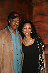 "One Life To Live's Nathan Purdee ""Hank Gannon"" came to see Guiding Light's Kim Brockington ""Felicia Boudreau"" in Long Time Since Yesterday on June 19, 2010 - part of the Great Black Plays & Playwrights Reading Series held at the Castillo Theatre, New York City, New York. Nathan Purdee starred the night before in What The Winesellers Buy. (Photo by Sue Coflin/Max Photos)"