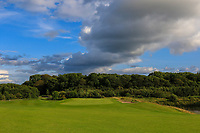The 18th green during the Final of the AIG Senior Cup in the AIG Cups & Shields Connacht Finals 2019 in Westport Golf Club, Westport, Co. Mayo on Sunday 11th August 2019.<br /> <br /> Picture:  Thos Caffrey / www.golffile.ie<br /> <br /> All photos usage must carry mandatory copyright credit (© Golffile | Thos Caffrey)