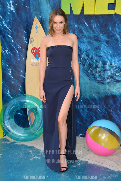 """LOS ANGELES, CA - August 06, 2018: Jessica McNamee at the US premiere of """"The Meg"""" at the TCL Chinese Theatre"""