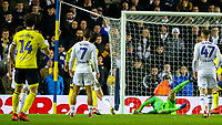 Blackburn Rovers' Charlie Mulgrew scores his side's second goal from a freekick<br /> <br /> Photographer Alex Dodd/CameraSport<br /> <br /> The EFL Sky Bet Championship - Leeds United v Blackburn Rovers - Wednesday 26th December 2018 - Elland Road - Leeds<br /> <br /> World Copyright &copy; 2018 CameraSport. All rights reserved. 43 Linden Ave. Countesthorpe. Leicester. England. LE8 5PG - Tel: +44 (0) 116 277 4147 - admin@camerasport.com - www.camerasport.com