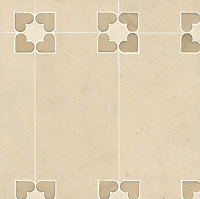 Marion, a stone water jet mosaic, shown in Saint Richard, Ivory Cream, and Rosa Portagallo, is part of the Ann Sacks Beau Monde collection sold exclusively at www.annsacks.com