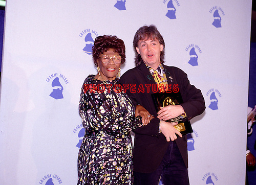 Ella Fitzgerald and Paul McCartney 1990 Grammy Awards.© Chris Walter.