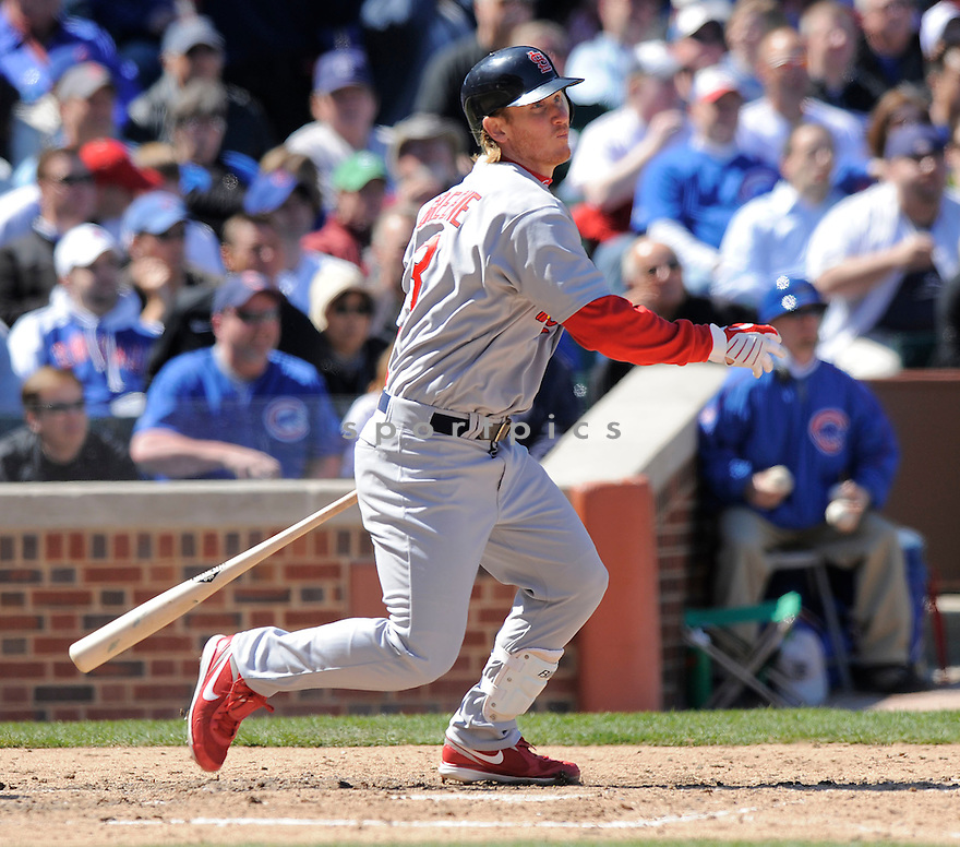 KHALIL GREENE, of the St. Louis Cardinals  , in action  during the Cardinals  game against the Chicago Cubs  on April 16, 2009 in Chicago, IL.  The Cubs beat  the Cardinals  8-7  in Chicago,