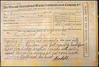 BNPS.co.uk (01202 558833)<br /> Pic: HAldridge/BNPS<br /> <br /> Telegram from Captain Kendall saying that his is fully confident that Crippen is on board.<br /> <br /> A 105-year-old archive of messages that led to the dramatic capture of notorious murderer Dr Crippen - the first arrest ever made thanks to telegrams - has emerged for sale for &pound;12,000.<br /> <br /> The messages were sent from the Montrose passenger ship bound for Canada to detectives at London's Scotland Yard as Crippen fled Britain after murdering his opera singer wife in July 1910.<br /> <br /> The collection is tipped to fetch &pound;12,000 when it goes under the hammer at Henry Aldridge and Son of Devizes, Wilts, on November 14.