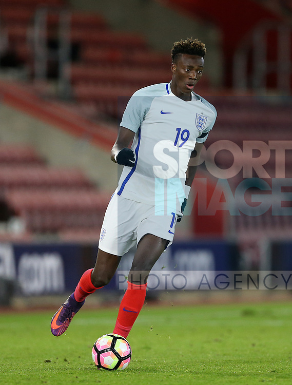 England's Tammy Abraham in action during the Under 21 International Friendly match at the St Mary's Stadium, Southampton. Picture date November 10th, 2016 Pic David Klein/Sportimage