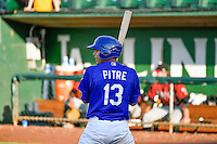 Gersel Pitre (13) of the Ogden Raptors at bat against the Idaho Falls Chukars in Pioneer League action at Lindquist Field on June 28, 2016 in Ogden, Utah. The Raptors defeated the Chukars 12-11. (Stephen Smith/Four Seam Images)