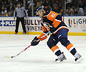 Dec 23, 2008; Uniondale, NY, USA; New York Islanders rightwing Kyle Okposo (21) during game against Atlanta Thrashers at the Nassau Coliseum. Thrashers won 4-2. Mandatory Credit: Tomasso DeRosa/SportPics