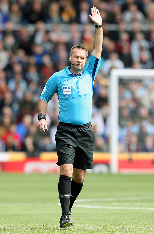 Referee Paul Tierney<br /> <br /> Photographer Rich Linley/CameraSport<br /> <br /> The Premier League - Burnley v Manchester City - Sunday 28th April 2019 - Turf Moor - Burnley<br /> <br /> World Copyright © 2019 CameraSport. All rights reserved. 43 Linden Ave. Countesthorpe. Leicester. England. LE8 5PG - Tel: +44 (0) 116 277 4147 - admin@camerasport.com - www.camerasport.com