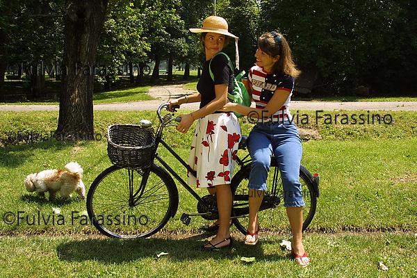 in bicicletta al Parco Forlanini