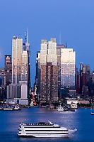 Weehawken (EUA), 18/05/2019 - Turismo / Eua / Nova York - Vista da Ilha de Manhattan à partir da cidade de Weehawken em New Jersey nos Estados Unidos na noite deste sábado, 18. (Foto: William Volcov/Brazil Photo Press)