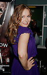 """HOLLYWOOD, CA. - September 03: Elle Travis arrives at the Los Angeles premiere of """"Sorority Row"""" at the ArcLight Hollywood theater on September 3, 2009 in Hollywood, California."""