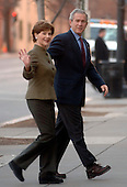 U.S. President George W. Bush attends  and First Lady Laura Bush attend Sunday morning service at St. John's Episcopal Church in Washington, on December 10, 2006. (UPI Photo/Kevin Dietsch