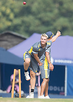 Felix Organ of Hampshire CCC during Middlesex CCC vs Hampshire CCC, Bob Willis Trophy Cricket at Radlett Cricket Club on 11th August 2020