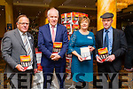 At the Lunch of Open Our Minds Mental Wellness Exhibition in the Brandon Hotel on Sunday were Terence Casey, Beware and Prevent Suicide, the Coroner for South Kerry, Minister Jimmy Deenihan, Deirdre Fee, Be Aware Chairperson, and Michael Healy-Rae TD