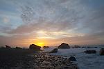 Sunset, Okarito coastline. Westland Region. New Zealand.