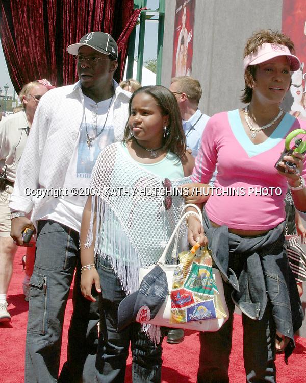 ©2004 KATHY HUTCHINS /HUTCHINS PHOTO.PRICESS DIARIES 2 PREMIERE.DOWNTOWN DISNEY, AMC 30 THEATERS.ANAHEIM, CA.AUGUST 7, 2004..BOBBY BROWN.BOBBI CHRISTINA BROWN.WHITNEY HOUSTON