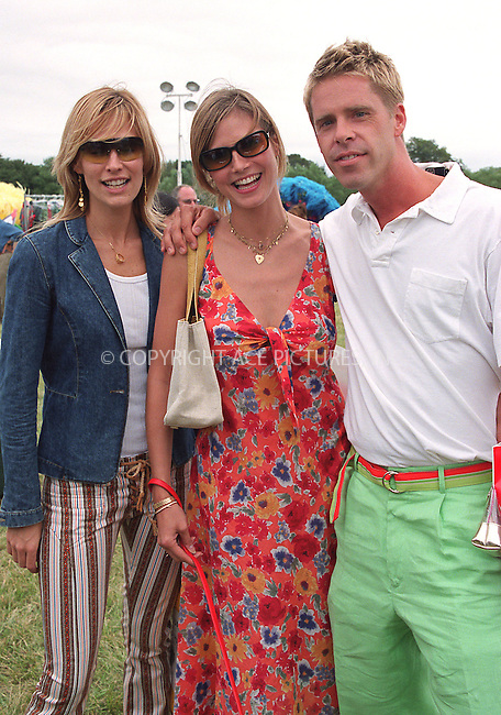 "(L to R) Molly Sims, Heidi Klum and fashion photographer Stewart Shining at the Fifth Annual ""Super Saturday"" designer sale and family event to benefit the ovarian cancer research fund. Water Mill, Long Island. July 27, 2002. Please byline: Alecsey Boldeskul/NY Photo Press.   ..*PAY-PER-USE*      ....NY Photo Press:  ..phone (646) 267-6913;   ..e-mail: info@nyphotopress.com"