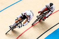 Picture by Alex Whitehead/SWpix.com - 10/12/2017 - Cycling - UCI Track Cycling World Cup Santiago - Velódromo de Peñalolén, Santiago, Chile - Russia's Denis Dmitriev defeats Suriname's Jair Tjon En Fa in the Men's Sprint quarter-finals.