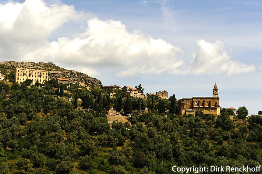 Romanische Kirche in Santo Pietro di Tenda, Korsika, Frankreich