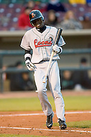 Devaris Gordon #5 of the Great Lakes Loons at bat versus the Dayton Dragons at Fifth Third Field April 21, 2009 in Dayton, Ohio. (Photo by Brian Westerholt / Four Seam Images)
