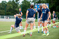 Kansas City, MO - Saturday July 22, 2017: North Carolina Courage  during a regular season National Women's Soccer League (NWSL) match between FC Kansas City and the North Carolina Courage at Children's Mercy Victory Field.