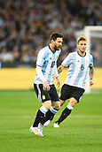 June 9th 2017, Melbourne Cricket Ground, Melbourne, Australia; International Football Friendly; Brazil versus Argentina; Lionel Messi of Argentina runs towards the ball