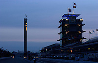87th Indianapolis 500, Indianapolis Motor Speedway, Speedway, Indiana, USA  25 May,2003.Dawn breaks on race morning..World Copyright©F.Peirce Williams 2003 .ref: Digital Image Only..F. Peirce Williams .photography.P.O.Box 455 Eaton, OH 45320.p: 317.358.7326  e: fpwp@mac.com..