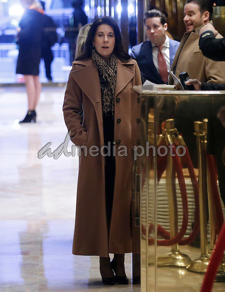 Attorney Sheri Dillon stands near the elevators at Trump Tower on January 11, 2017 in New York City. U.S. President Elect Donald Trump is still holding meetings upstairs at Trump Tower as he continues to fill in key positions in his new administration. Photo Credit: John Angelillo/CNP/AdMedia