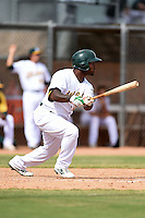 Oakland Athletics outfielder B.J. Boyd (12) during an Instructional League game against the San Francisco Giants on October 15, 2014 at Papago Park Baseball Complex in Phoenix, Arizona.  (Mike Janes/Four Seam Images)