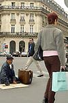 FRANCE / PARIS 25 April 2002--Paris street life in the neighborhood of the bank Societe Generale..PHOTO: JUHA ROININEN.
