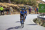 Nelson Oliveira (POR) and Andrey Amador (CRC) Movistar Team climb Sierra de la Alfaguara during Stage 4 of the La Vuelta 2018, running 162km from Velez-Malaga to Alfacar, Sierra de la Alfaguara, Andalucia, Spain. 28th August 2018.<br /> Picture: Eoin Clarke   Cyclefile<br /> <br /> <br /> All photos usage must carry mandatory copyright credit (&copy; Cyclefile   Eoin Clarke)