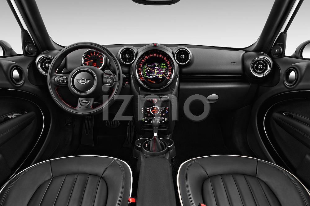Stock photo of straight dashboard view of 2016 MINI Countryman Cooper-S 5 Door Hatchback Dashboard