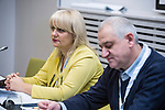 """BRUSSELS - BELGIUM - 23 November 2016 -- European Training Foundation (ETF) Conference on """"GETTING ORGANISED FOR BETTER QUALIFICATIONS"""". -- Ejvis Gishti, National VET and Qualification Agency (NAVETQ)<br /> Head of department (Albania) and Borcho Aleksov, Ministry of Education and Science - former Yugoslav Republic of Macedonia - HE department and chair of the NQF Board. -- PHOTO: Juha ROININEN / EUP-IMAGES"""