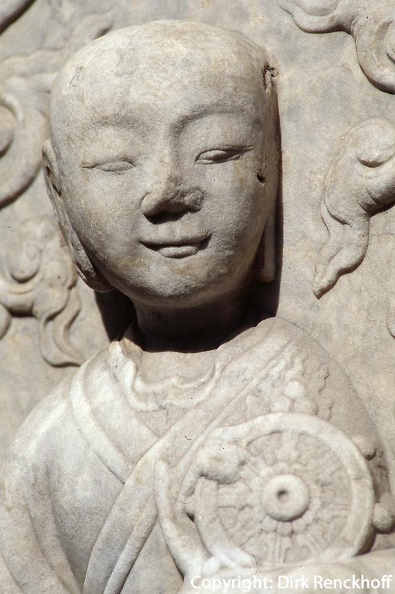 China, Peking, BiYunSi (Tempel der Azurblauen Wolken), Diamantthronpagode, Detail