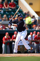 Detroit Tigers catcher Jarrod Saltalamacchia (39) at bat during an exhibition game against the Florida Southern Moccasins on February 29, 2016 at Joker Marchant Stadium in Lakeland, Florida.  Detroit defeated Florida Southern 7-2.  (Mike Janes/Four Seam Images)